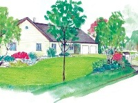 Vidiecka záhrada včera a