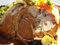 hlavné jedlo  Pečené jahňacie