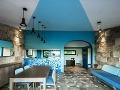 Modrá dominuje talianskemu interiéru