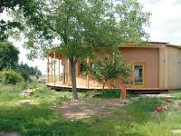 Kruhový slamený dom Netradičný dom