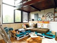 linoleum imitujúce drevené parkety,