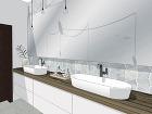 Centrálne osvetlenie kúpeľne by