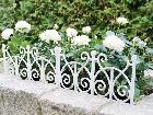 Kovový plôtik Antique white