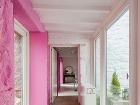 Moderný pastelový interiér by