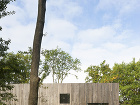 Drevený štvorcový dom: Napohľad