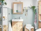 Umývadlová skrinka SILVERÅN, masívna