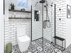 Sprchovací kút vďaka zasklenej