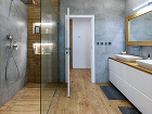 Kúpeľňa je v dome