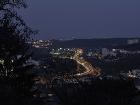 nočný výhľad na mesto