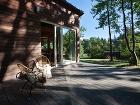 drevená terasa s posedením