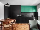 kuchyňa s čiernou farbou