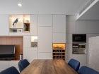 obývačka s kuchyňou a
