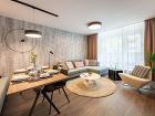 obývačka s jedálenskym stolom