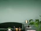 Tlmená zelená v interiéri
