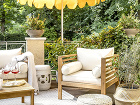 záhradné posedenie na terase