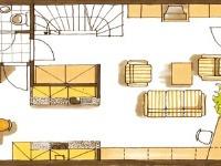 Pôdorys prízemia. Členenie interiéru