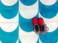 Hravé farby ajednoduché geometrické