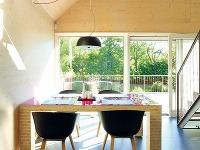 Interiér drevodomu zveľkoformátových CLT