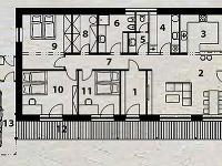 Pôdorys domu 1 vstup
