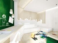 Atmosféru miestnosti oživujú štyri