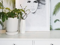 Čiernobiely plagát s akvarelovou