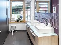 Hlavná kúpeľňa svýraznejším fialovým
