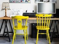 Stoličky vpracovnom kútiku situovanom
