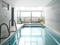 Vnútorný bazén vjednej úrovni