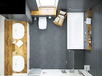 Dve umývadlá sú v