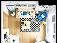 Obývačka plní úlohu jedálne