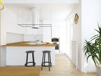 Menšia minimalistická kuchyňa v