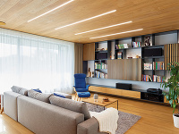 Vstavaná obývačková stena po