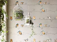 Rastlinné, kvetinové a zvieracie motívy na stenách v interiéri