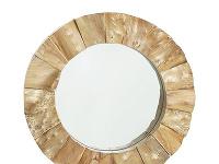 Zrkadlo znarezaného jedľového dreva,
