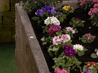 Štiepkocementový prírodný kvetináč Leier-Durisol