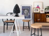 stoličky s korkovým sedákom