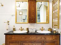 zlatá farba v kúpelni