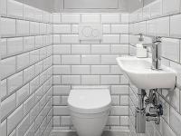WC v bielej farbe
