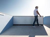 otvorená terasa na streche