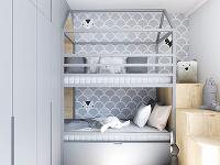Poschodová posteľ je navrhnutá
