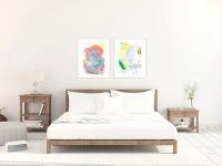 Originálne akvarelové maľby, 60x42cm,