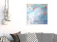 Ručne maľovaný abstraktný obraz