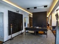Čiernobielu kombinácia podlahy