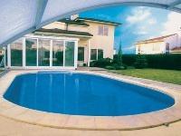 Exteriérový bazén s prekrytím,