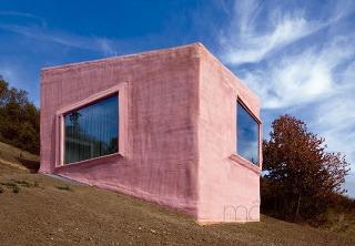 Ružový zvláštny dom