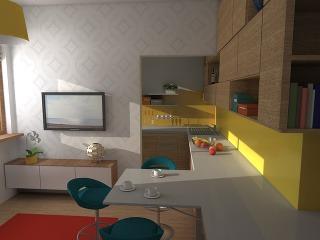 Efektívny návrh 2-izbového bytu