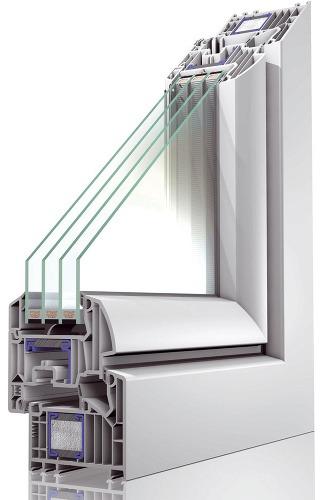 Okno Winergetic Premium Passive od spoločnosti Oknoplast spĺňa aj náročné požiadavky pasívnych domov (súčiniteľ prechodu tepla Uw  0,8 W/(m2.K). Je vybavené špeciálnym tepelným zosilnením – oceľový profil výstuhy je spojený so živicovou tepelnou vložkou a