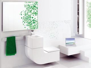 Šikovný záchod Staršie systémy splachovania minú 9 – 12 l vody, novšie 6 l na veľké spláchnutie a 3 l na malé spláchnutie. Tento duálny systém splachovania ušetrí priemernej štvorčlennej rodine až 40 % ročnej spotreby vody.