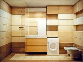 Návrh. Dôležité dispozičné vylepšenie: bývalú chodbičku pričlenila Jasna k susednej kúpeľni, čím sa podstatne zlepšili nielen priestorové podmienky kúpeľne, ale aj možnosti na zariadenie predsiene a kuchyne.