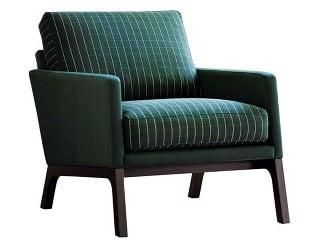 Monte, kreslo čalúnené zelenou látkou Mint, nohy zorechovej dyhy, 82 × 75 × 94 cm, 949 €, BoConcept, Light Park